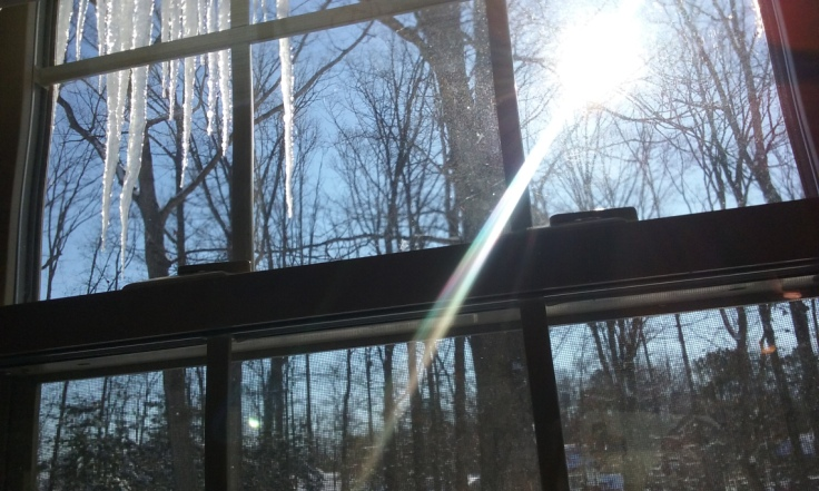Icicles By The Window (Photography)