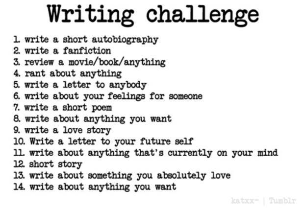 The 14 Day Writing Challenge