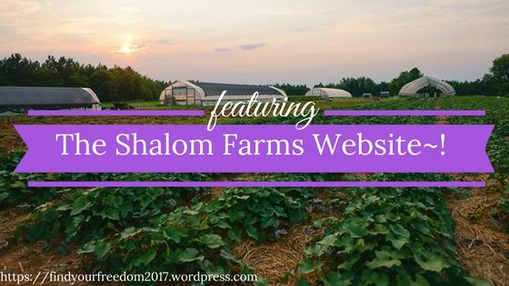 Come check out the Shalom Farms Website
