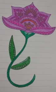 Flower Sprouting (Drawing)